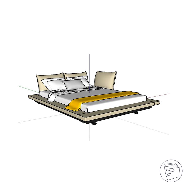 Peter Maly 2 Beds By Ligne Roset 3d Model By Bimarium
