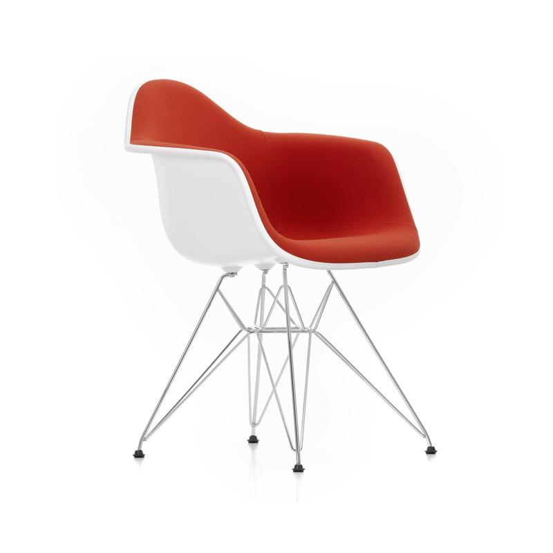 Eames Plastic Armchair DAR Full Upholstery