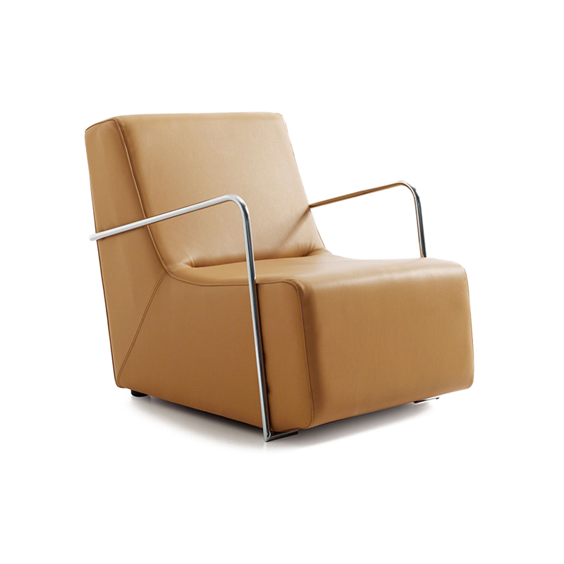 Club small armchair metal arm